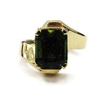 10K Yellow Gold Peridot Ladies Ring ~ 4.1g