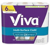 VIVA PAPER TOWELS - 6 ROLLS - 2-PLY SHEETS - FREE 2-4 DAY PRIORITY SHIPPING