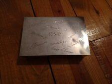 Rare Tiffany & Co Sterling Silver Box wood lined presentation 20oz weyerhaeuser