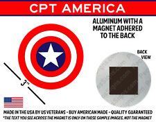 """Magnet - Captain America Shield 3"""" Round Aluminum Made in USA"""