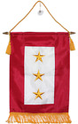 "12x18 Embroidered Three Star Gold Star KIA Military Service Flag 12x18"" Banner"