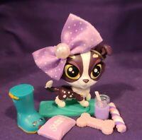 Littlest Pet Shop~#314~Chinchilla~2 Tone Brown White~Purple Dot Eyes~Red Magnet