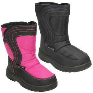 GIRLS REFLEX H4072 INFANT HOOK & LOOP CASUAL WARM FUR WINTER SNOW BOOTS SIZE