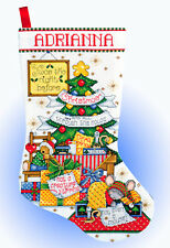 Cross Stitch Kit ~ Design Works Sleepy Mouse Christmas Tree Stocking #DW5950