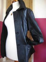 ladies M&S AUTOGRAPH black real leather JACKET UK 20 18 biker safari military