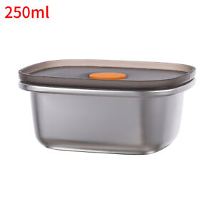 Stainless Steel Bento Box Food Containers School Lunch Box Sealed Lid Leak-Proof