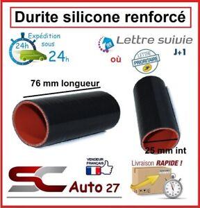 Durite silicone renforcé pour raccordement dump valve 25 mm INT/76 mm LONG