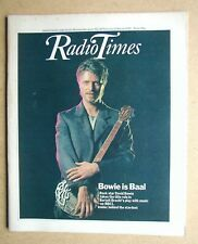 Radio Times. 27 February - 5 March 1982. David Bowie Cover & Interview.