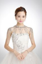 JL01 Bridal Shoulder Necklace Body Chain Jewelry Set Rhinestone wedding dress