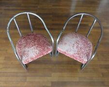 Rarissime Paire Fauteuils Tubes Années 1925. Vintage Arts Décoratifs Armchairs.