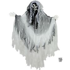 Deko Figur Sensenmann Tod Skelett GEISTERBRAUT Hängefigur 155 cm Halloween 1374