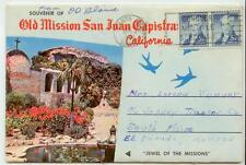 1963 Santa Ana California folding postcard with 5ct Liberty issue pr - airmail?