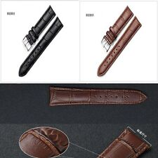 Quality Brand Steel New Men Band Tang Or Watch Leather Strap Genuine
