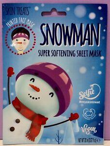 NEW SNOWMAN PRINTED SOFTENING BEAUTY FACE MASK SHEET PAMPER GIRL GIFT CUTE RARE