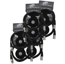 XSPRO XSPDMX3P10 3 Pin DMX Light Cable 10' - 8PAK