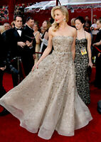 $62,500 Oscar de la Renta Embellished Tulle Evening Dress Runway Gown IT 42 US 6
