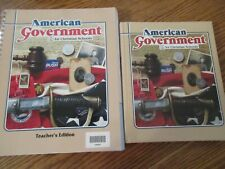 BJU 12th grade American Government set (student/TE)