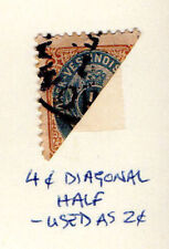 Danish W Indies - Halved 4c used as 2c from the 1874-79 set. Scott #7c USED