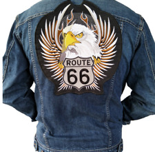 Iron On Eagle Route 66 Embroidery Motorcycle Patch,Big Patch Embroidery