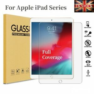 """Tempered Glass Screen Protector For iPad 8th 7th 6th 5th 10.2"""" 9.7"""" Pro Air"""