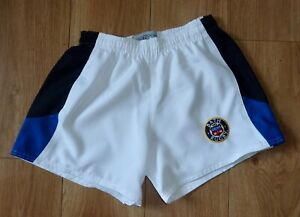 """BATH Rugby,White/Black/Royal Rugby Shorts-Embroidered,Size 34"""" Waist-Cotton-NEW"""