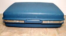 Vintage Samsonite Saturn Suitcase Luggage Blue Hard Shell Travel Bag 16 x 21