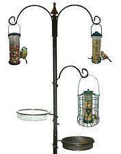 HANGING WOODEN METAL GARDEN WILD BIRD TABLE TRADITIONAL FEEDING STATION FREE P&P
