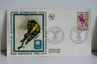 ENVELOPPE PREMIER JOUR SOIE - 1968 J.O. GRENOBLE