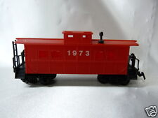 Life-Like Brand Red Caboose No. 1973 HO Scale Model Railroad Car in Box