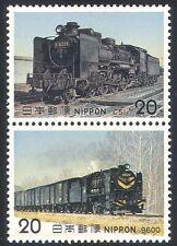 GIAPPONE 1975 Treni/vapore/Trasporto/Rail 2 V Set (n25172)