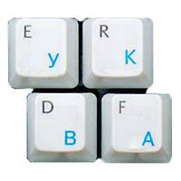 HQRP Qwerty Russe / Ukrainien Transparent Clavier Autocollants Bleu Lettrage