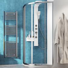 Box doccia 90x90 cabina semicircolare stondata in cristallo temperato scorrevole