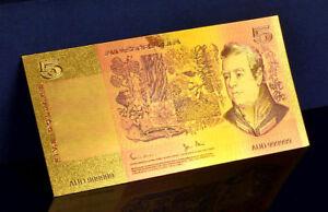 "★★ AUSTRALIE / AUSTRALIA : BILLET POLYMER  "" OR "" DU 5 DOLLARS (type 1980)  ★★"