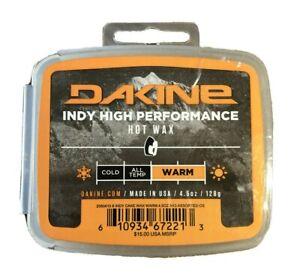 Dakine Indy High Performance Hot Wax for Snowboards Warm Temp 4.5 oz 128g New