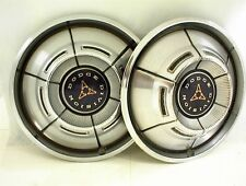 "1970 1971 DODGE HUBCAPS 14"" WHEEL COVERS PAIR"