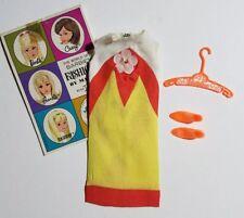 Vintage 1967 Barbie Doll TROPICANA Dress #1460 - Dress, Shoes, Booklet, Hangar
