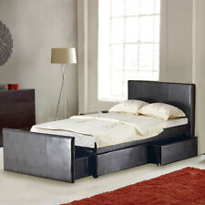 Faux Leather Medium Pocket Sprung Beds Mattresses