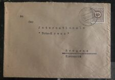 1945 Wolfurt Austria Post WWII Cover to The Red Cross In Bregenz