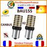 2 x ampoule CANBUS 144 LED BAU15S ORANGE Voiture Feux Jour Clignotant PY21W