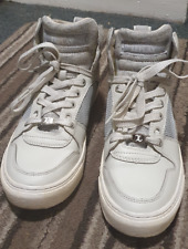 🔥 Replay High Top Trainers Sneakers Shoes White Size 8