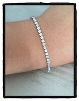 Bracelet Empierré Cristaux Oxyde de Zirconium Argent 925/000 Rhodié
