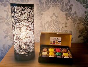 Christmas Aroma Lamp Silver Leaf Touch Sensitive & Christmas Wax Melt Gift Set