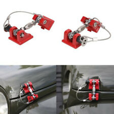 2xRed Hood Catch Lock Bracket Latch Buckle Holder For 07-17 JEEP Wrangler