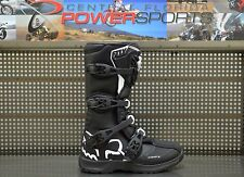 Fox Racing Youth Black White Comp 3 Dirt Bike Boots Motocross MX 2017 SIZE 8