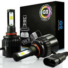 JDM ASTAR G2 8000LM 72W 2x 9005/HB3 CSP LED Headlight High Beam Bulb Xenon White
