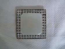 VINTAGE LARGE RHINESTONE AND SYNTHETIC MOTHER OF PEARL BELT BUCKLE