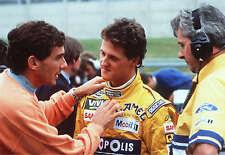 AYRTON SENNA and Schumacher 8x10 PHOTO photograph PICTURE FORMULA 1 Brazilian