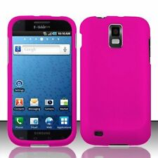 Hard Rubberized Case for Samsung Galaxy S2 T989 (T-Mobile) - Hot Pink