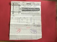 Robert Burley and Sons Handle Mfr Home & Foreign Wood 1906 Govan  receipt R33191