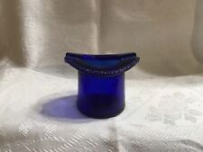 Vintage Cobalt Blue Glass Top Hat Ash Tray